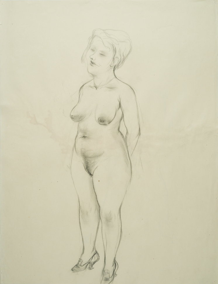 George GROSZ (1893-1959)Pencil, carpenter's pen and charcoal on paper60 x 46,1 cm