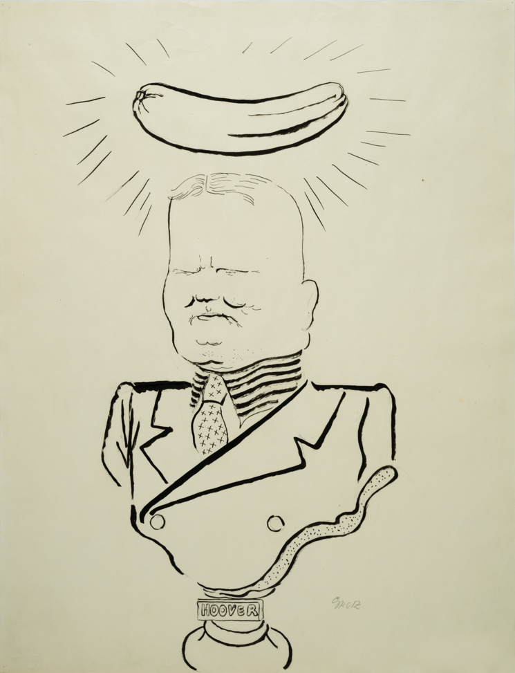 """George GROSZ (1893-1959)Brush, reed pen and pen and ink on paper60,8 x 46,1 cmSigned """"Grosz"""" lower rightStamped on the reverse """"GEORGE GROSZ NACHLASS"""" and numbered 2-146-3"""