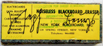 Joseph BEUYS (1921 - 1986)Felt blackboard eraser, stamped, signed and numberedLabel yellow, typography black. Signed in felt pen in Sütterlin (prewar German) script; numbered in pencil by another hand; a very few copies experimentally numbered by stamping.2 x 5 1/8 x 1 in (5 x 13 x 2,5 cm)Edition of 550 + 6 a.p. ; Ed. 537/550Publisher: Ronald Feldman Fine Arts, New YorkBeuys had the idea for the edition at a political lecture he held during his first trip to the United States.When collectors wanted to purchase a blackboard he had drawn and written on, Beuys had it erased with this type of blackboard eraserPlease click HERE for full fact sheet