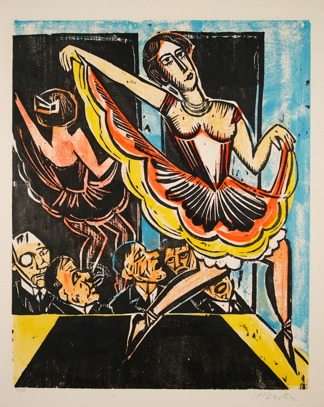 Hermann Max Pechstein (1881–1955)Colour woodcut, additionally hand-colored by the artist
