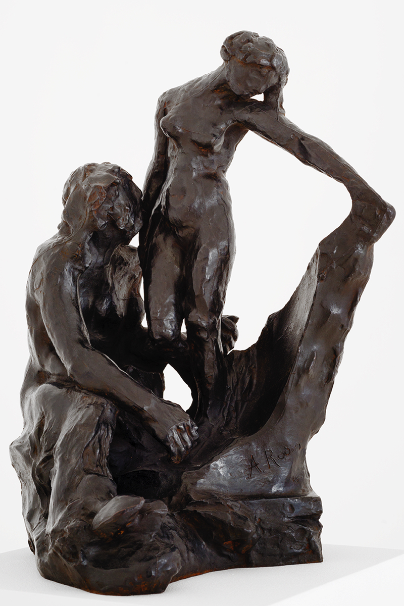 Auguste RODIN (1840-1917)Pygmalion and GalateaThe subject of this bronze is taken from Ovid's Metamorphoses.  When Vulcan sculpts the first woman, Pygmalion falls in love with the statue the god is creating and begs Aphrodite to transform it into a living woman.  Bronze 42,1 x 27 x 31 cmCast in 2015 by Fonderie de Coubertin, ParisInscribed A. Rodin, © by Musée Rodin and numbered, one of the eight examples numbered in Arabic numerals, dated and stamped with foundry mark