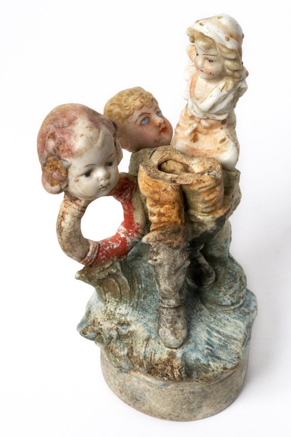 Satch Hoyt (b.1957)Three WomenMixed-media, ceramic and porcelain13 x 7 x 8 cm