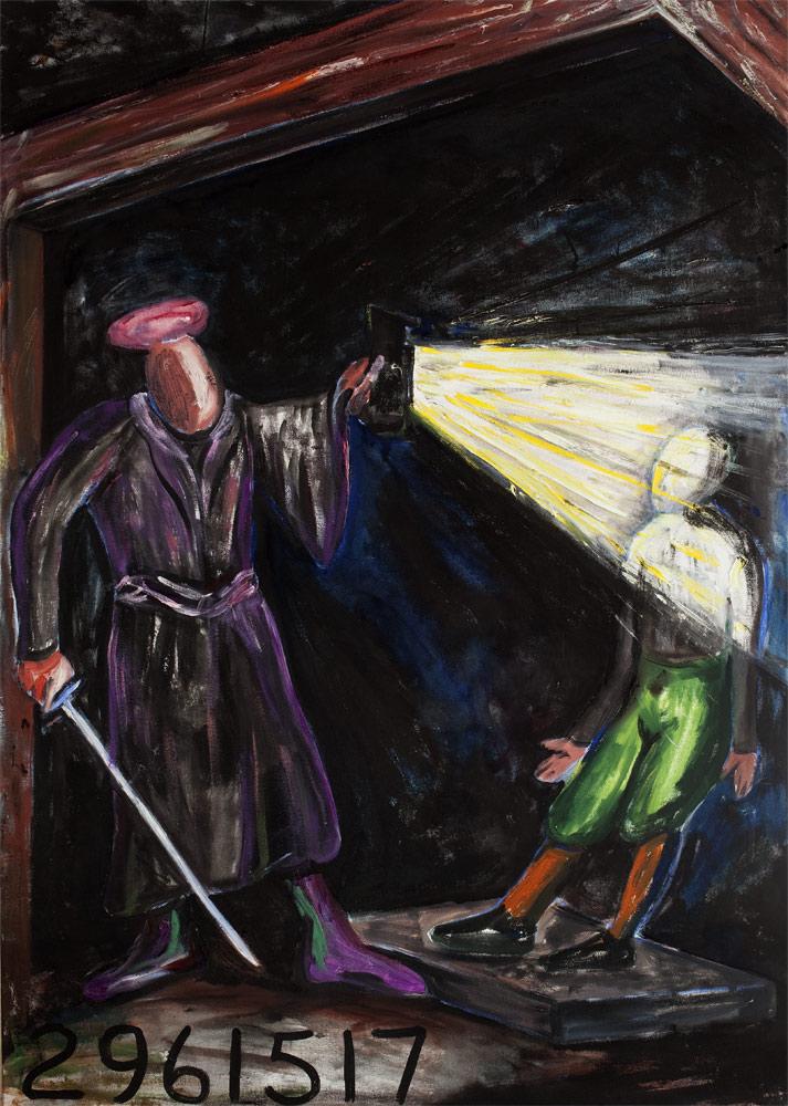 Jonathan BOROFSKY (b. 1942)Acrylic on Canvas 122 x 86.4 cm