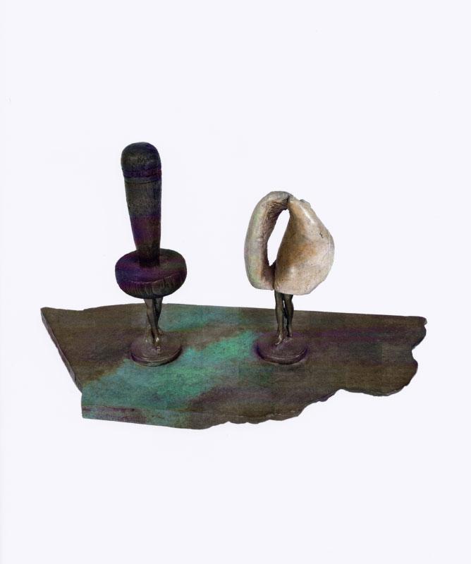 Daniel SPOERRI (b. 1930)Bronze26 x 46 x 19 cm1 von 8 + 1 Exemplaren. Am sockel hinten signiert und nummeriert.