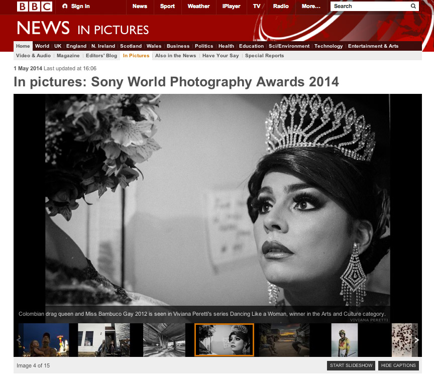 2014 SONY WORLD PHOTOGRAPHY AWARDS' Winners on BBC website.