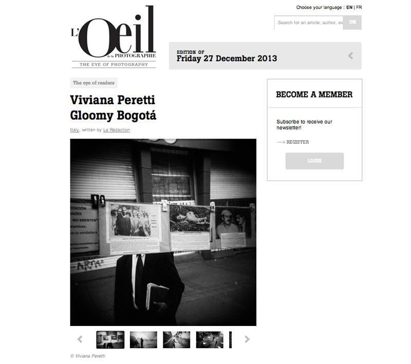 Gloomy Bogota featured on L'OEIL DE LA PHOTOGRAPHIE on December 2013. See more at: http://www.loeildelaphotographie.com/en/2013/12/27/viviana-peretti-gloomy-bogota