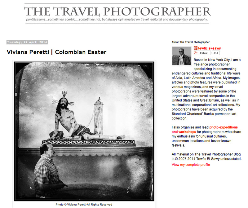 My series about Easter in the Colombian small region of Quindío featured on THE TRAVEL PHOTOGRAPHER on April 2014. See more at: http://thetravelphotographer.blogspot.com/2014/04/viviana-peretti-colombian-easter.html?spref=fb and http://www.vivianaperetti.com/#/iphoneography/easter-in-colombia/Easter_01