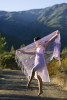 Annalyse Olivas, 21, from Ojai, Calif., is soaking in the sun while along the hiking trail of Matilija Canyon in Ojai, Calif., dancing with a shawl from the costume rack at Nordhoff High School on Tuesday, November 15, 2011. Olivas picked up dancing through an ex-boyfriend who was a hip hop dancer when she was 16 years old; he was her inspiration to begin dancing.