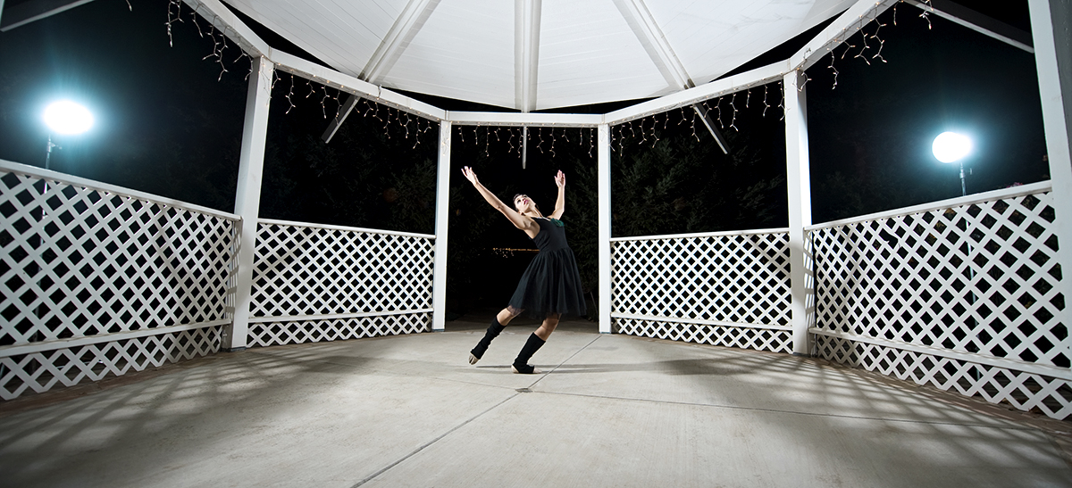 Kristen Nordella, 20, from Camarillo, Calif., is dancing in a moment of unchoreographed physical expression under the gazebo at her parent's house in Camarillo, Calif., on Wednesday, Nov. 30, 2011. Nordella wants to communicate freedom as a dancer.