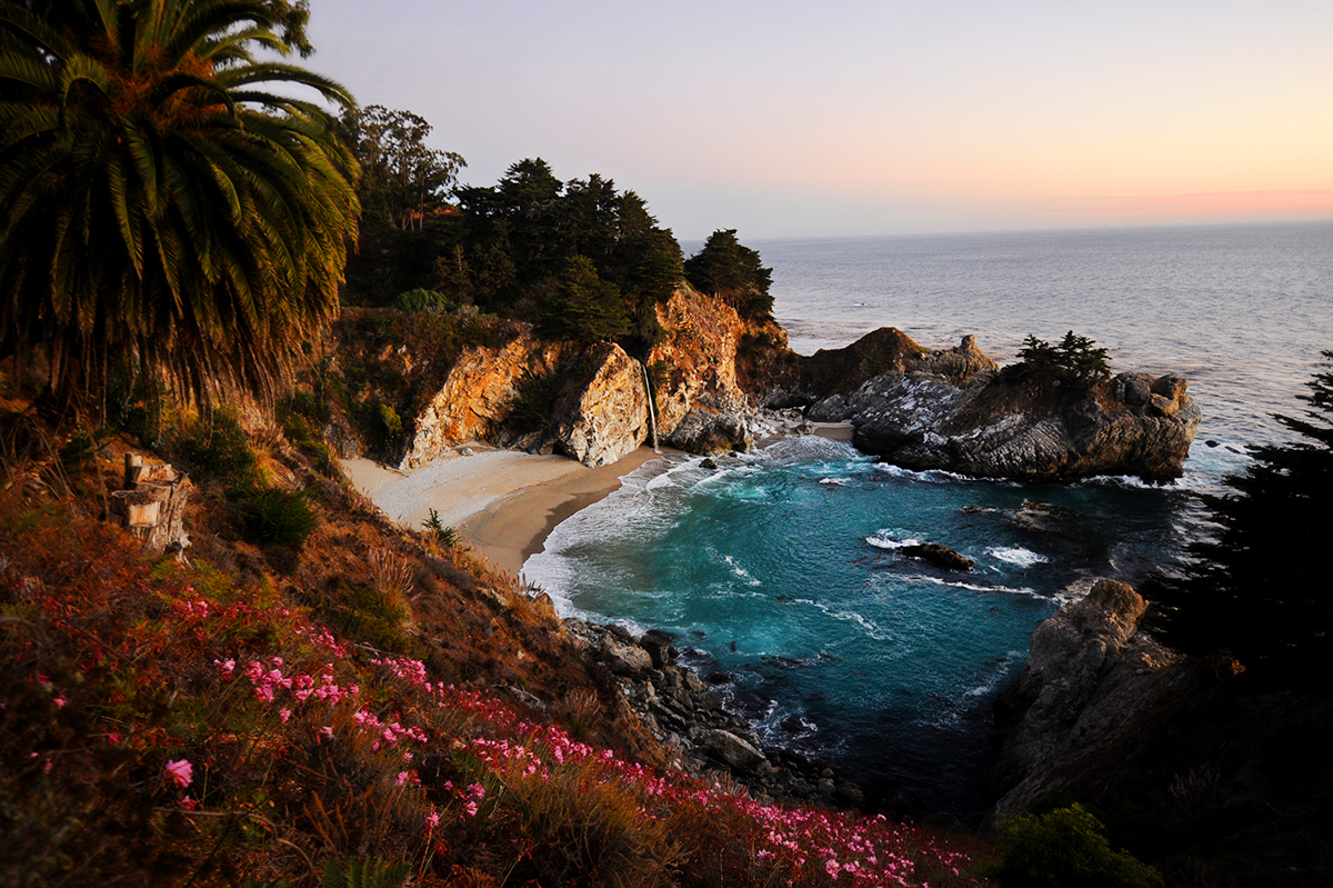 McWay Falls infamous waterfall is surrounded by God's natural beauty in Big Sur, Calif., on Saturday, October 6, 2012.