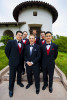 Groom, Jason Broce, 33, from Lake Forest, Calif., is with his groomsmen before his first look with his fiance, Keren Smeltzer, 28, from Laguna Niguel, Calif., at South Shores Church in Dana Point, Calif., on Saturday, October 20, 2012. The couple's wedding reception was movie themed.