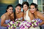 Bride, Eva Wu, 30, from El Monte, Calif., is celebrating with her bridesmaids, the happiest day of her life, her wedding day, at an ocean view home in Malibu, Calif., on Saturday, October 27, 2012. The wedding was sprinkled with lavender decor.