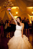 The bride, Jessica Alvidrez, rallies all her single ladies to the dance floor for her bouquet toss at The Villa in Westminister, Calif., on Saturday, November 16, 2013.  The women cheered and raised their arms in the air as the bride to be leaped and caught it on the ground.