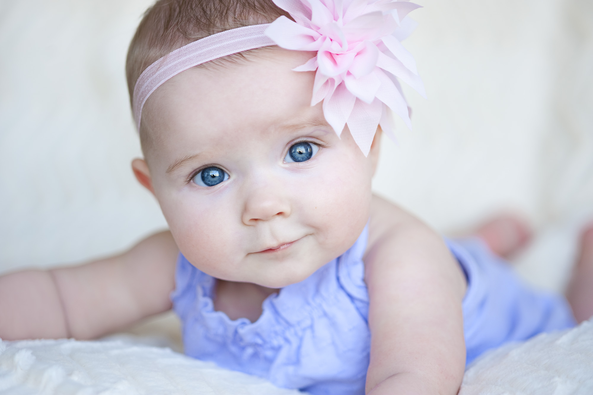Kinsley Kay Reidinger, 6 months, from Lancaster, Wisconsin, has her portraits taken before nap time at her Great Uncle's house in Lake Forest, California on Saturday, March 28, 2015.  Reidinger is such a sweet, loving, happy baby girl!