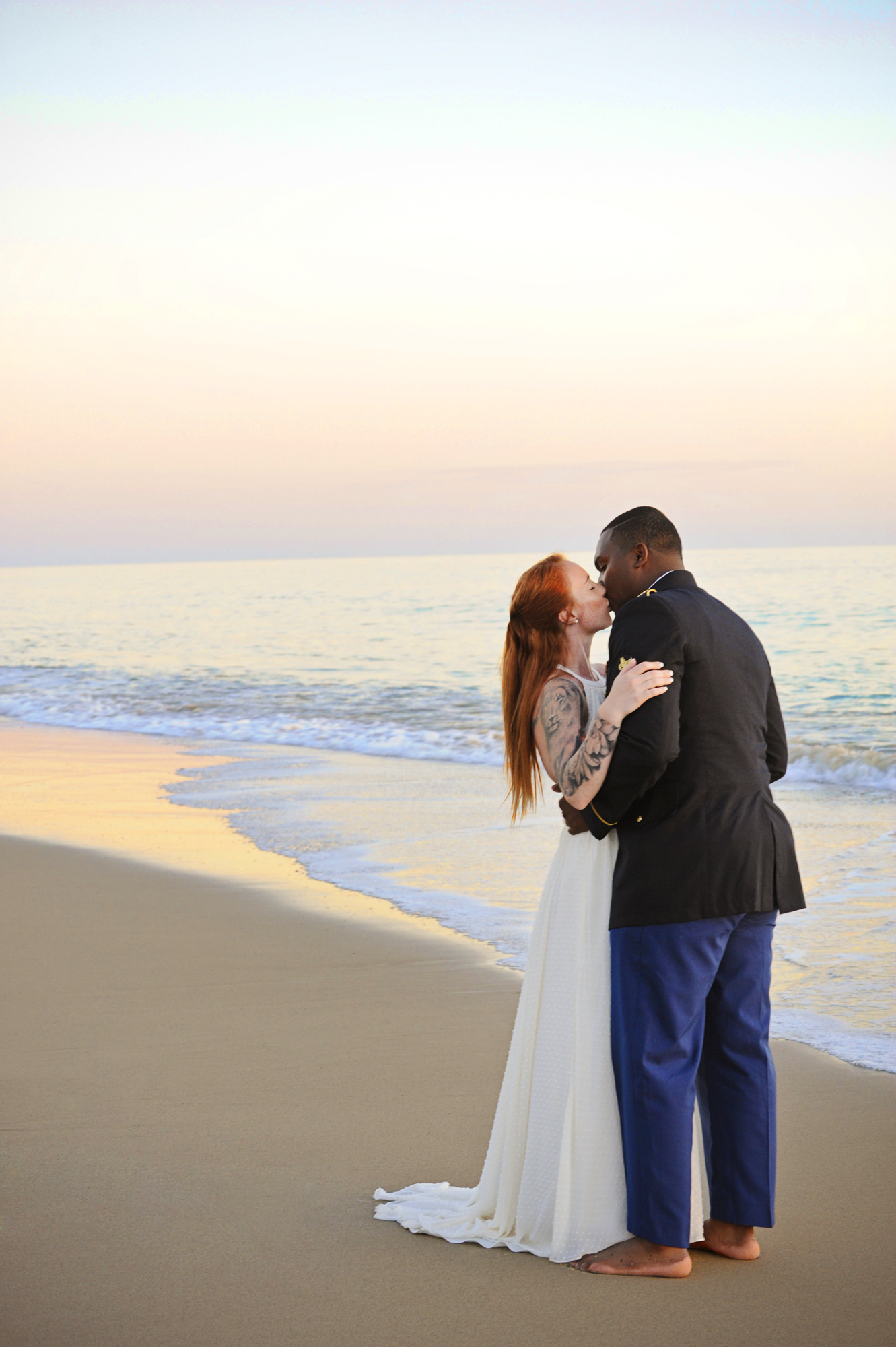 Patrick Boatner, 24, and Kelly Jeans, 20, from Bloomington, Minnesota became husband and wife on Saturday, September 19, 2015 in Dana Point, California at the Palisades Gazebo surrounded by their closest family and friends.  Following the ceremony the bride and groom enjoyed the sunset at Capistrano Beach followed by a family dinner.  Boatner is in the army and proposed to his bride at the airport.  The couple describe their relationship as full of fun, wrestling, watching Netflix, and love.