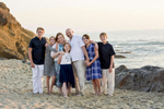 Alan Frazier and Diana Winship, from Laveen, Arizona, became husband and wife at Treasure Island Beach in Laguna Beach, Calif., on Monday, June 20, 2016 embraced with the love of their five children.  After a week long family vacation visiting all the Southern California beaches, the couple were wed on their final day and could not be happier.   (Photo by: Meagan Reidinger © 2015)