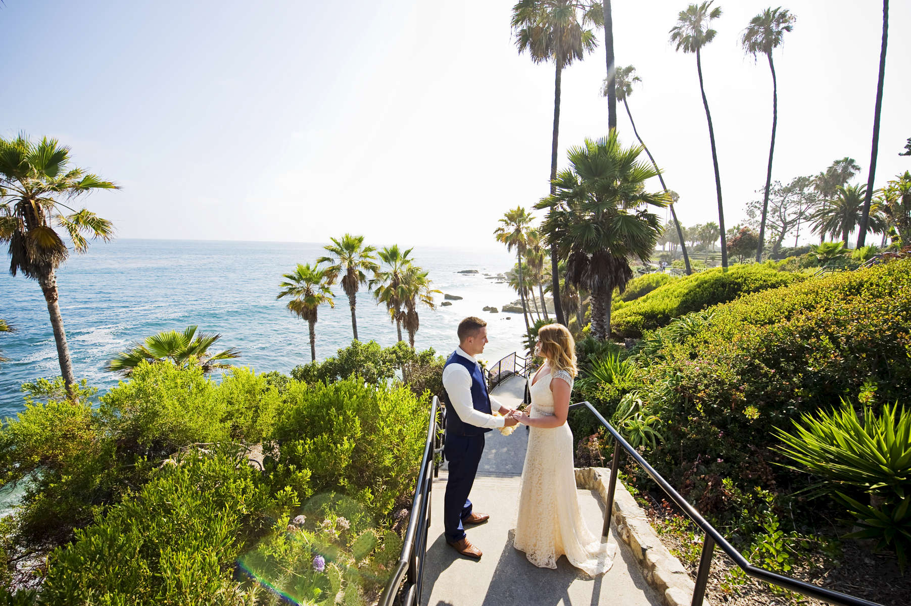 Andrew Moore, 29, from Lisburn, Ireland, and Sarah McKnight, 28, from Lisburn, Ireland decided to have an intimate ceremony across the world for a destination wedding under the Laguna Beach Gazebo in Laguna Beach, Calif., on Wednesday, June 29, 2016.  Moore and McKnight met at a night club eight years ago and look forward to spending the rest of their lives together.