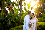 Rudy Avila, 27, and his bride, Yemeni Lopez, 25,from Rancho Cucamonga, Calif., were married at the Laguna Beach Gazebo in Laguna Beach, Calif., surrounded by their closest friends and family members on Saturday, August 20, 2016.  Avila and Lopez have been together for the past seven years after meeting at a mutual friends home and recently gave birth to their son, Jason Avila, 6 months.  The couple is excited to start their next chapter in life beginning with a large family reception equipped with tacos at their home.  (Photo by: Meagan Reidinger © 2016)