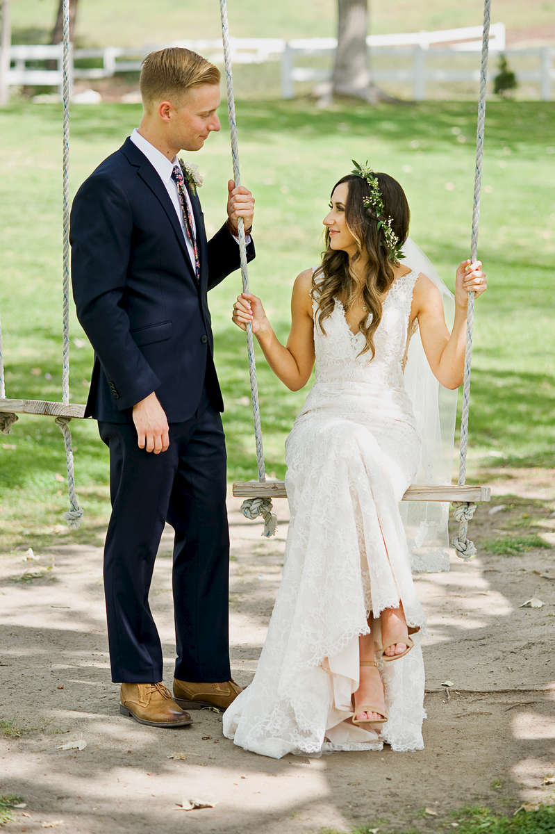 Registered Nurse and beautiful bride, Katy Faria, marries her elementary school sweetheart and firefighter, Chad Morrison, at Coto Valley Country Club in Coto De Caza, Calif., on Saturday, April 6, 2018.  The couple first and foremost follow Jesus Christ as their personal Savior and were ecstatic to celebrate their marriage with their closest friends and family.  The tear-filled vows, key to her heart necklace, first look, swing, and sparkler exit were a few of the cherished moments during the Morrison Wedding.(Photo by: Meagan Reidinger © 2018)