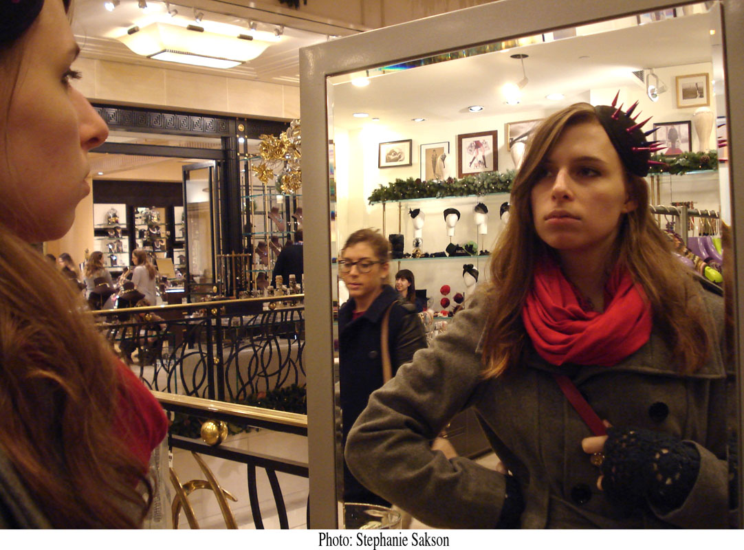 Trying on Hats at Henri Bendel's, NYC