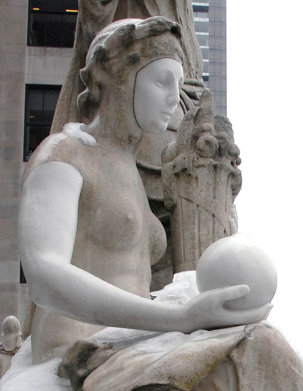 February 2 - Repaired Statues on Roof of Appellate Court, Madison Avenue