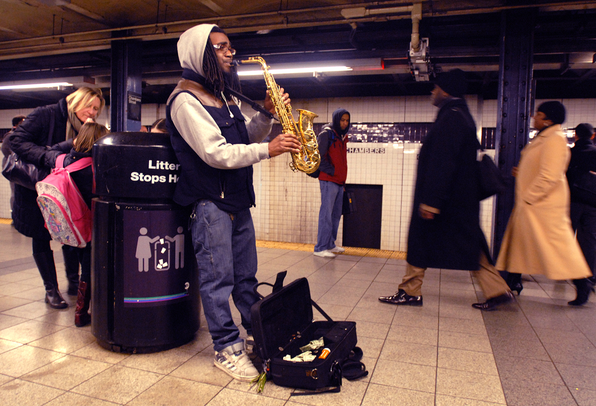 February 14 - Subway Musician