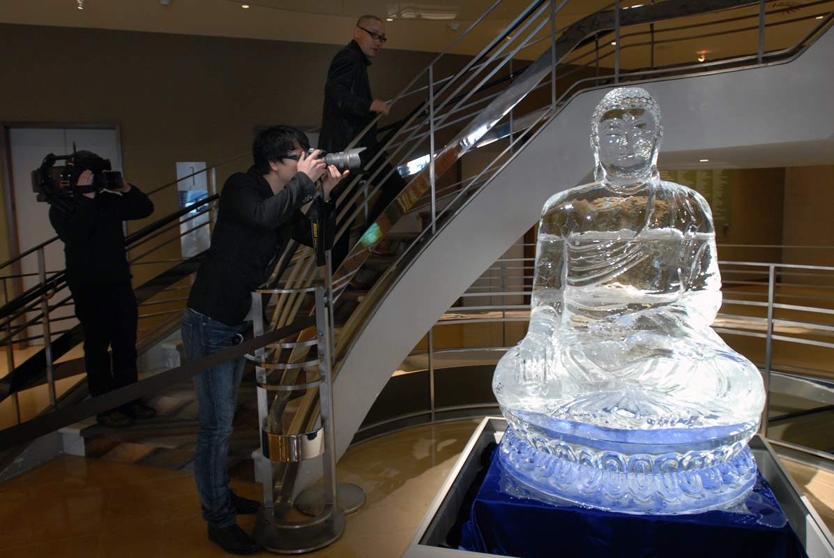 March 25 - Buddha Ice Sculpture, Rubin MuseumPost a Comment