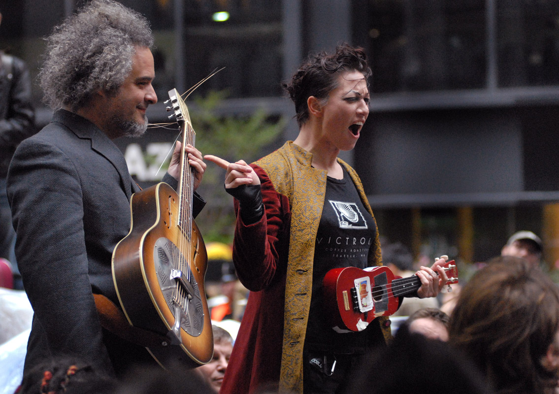 October 12 - Amanda Palmer Visits Occupy Wall StreetPost a Comment