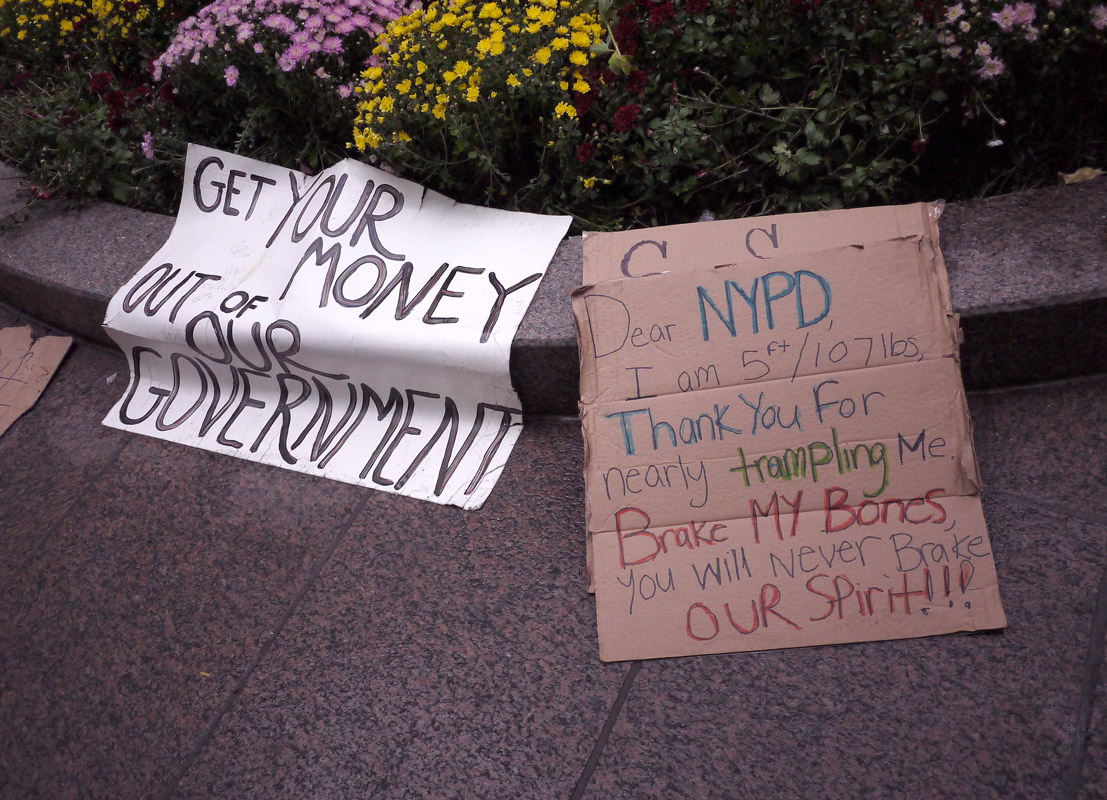 September 20 - Wall Street Occupation Protest, Zuccotti ParkPost a Comment