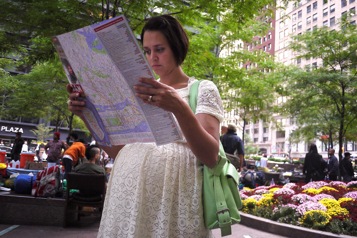 September 22 - Woman Reading Map, Zuccotti ParkPost a Comment