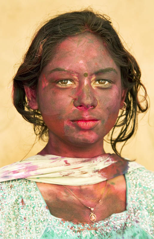 Holi Girl, Kolkata, India
