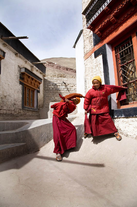 Novices at Play, Stok Monastery, Ladakh