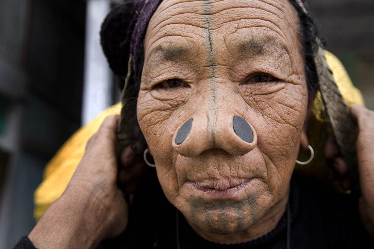 Apatani Woman, Nagaland, India