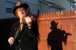 Fiddler Damian Boucher at his home. (Reena Rose Sibayan \ Hillside Leader)