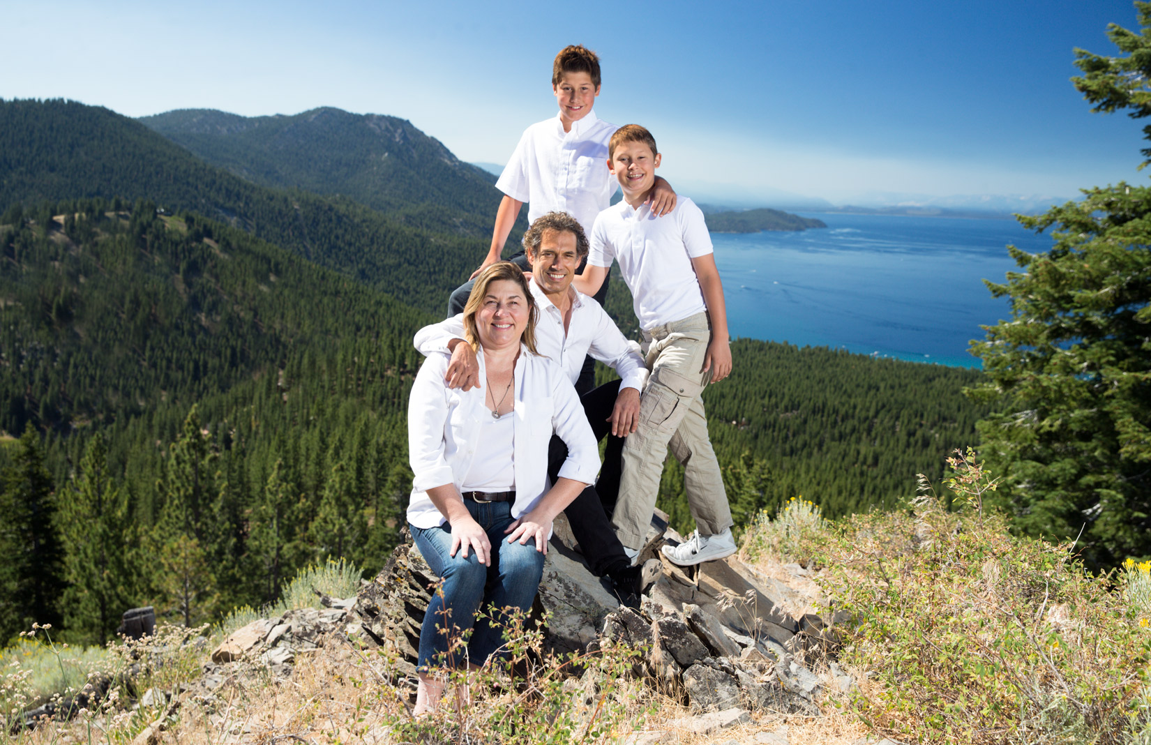 Tahoe-family-rocks-and-trees