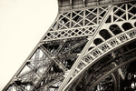 Close up of the Eiffel Tower in Paris, France