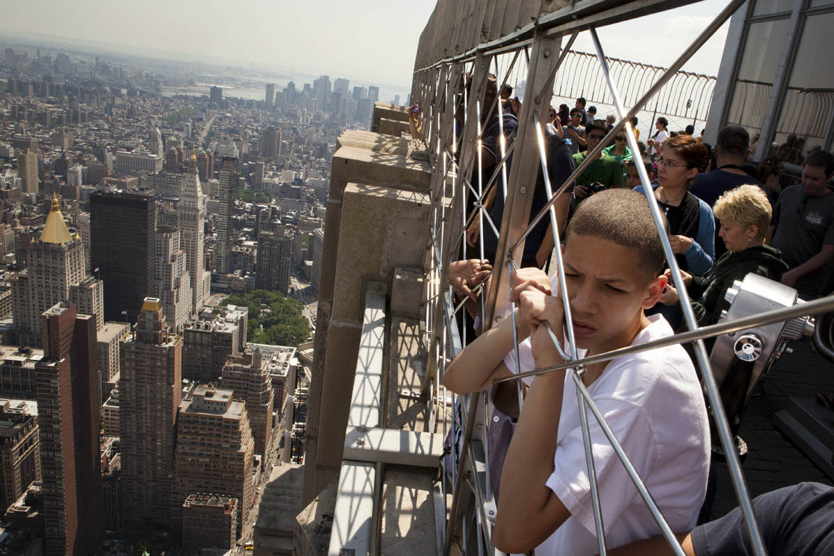 Alex Rodriguez of Donegan Elementary School in Bethlehem stands atop the Empire State Building in New York City. In 2003, the Pew Hispanic Center released a report forecasting a dramatic shift in the population of Hispanic-American youth. According to the report, the number of American-born Hispanics in U.S. schools would double by 2020, and the rate of Hispanic births in the United States would soon {quote}outpace{quote} immigration.