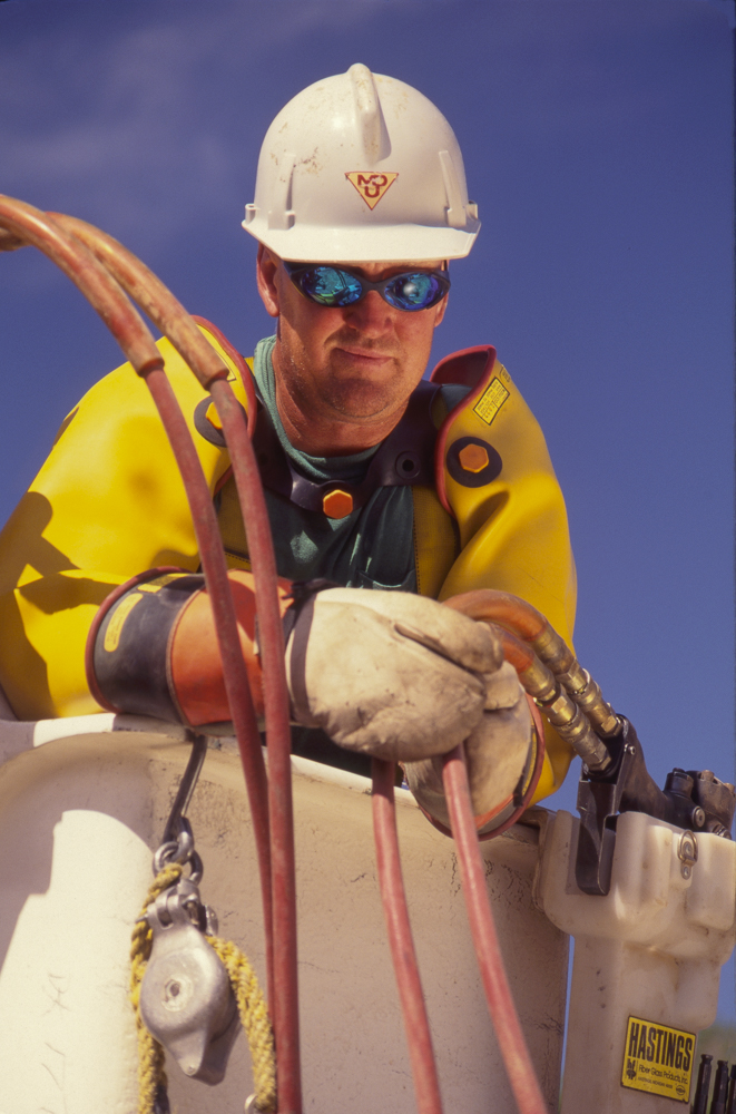 An electrical lineman with Montana Dakota Utilities.