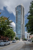 At 560 feet, The Vue condominium tower in Charlotte's downtown Fourth Ward is North Carolina's fifth tallest building.  It was designed by Forum Studio of St. Louis and Chicago.