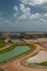 Phosphate Rock Mine, FloridaWork vehicles cross a canal at a phosphate rock mine in Florida.