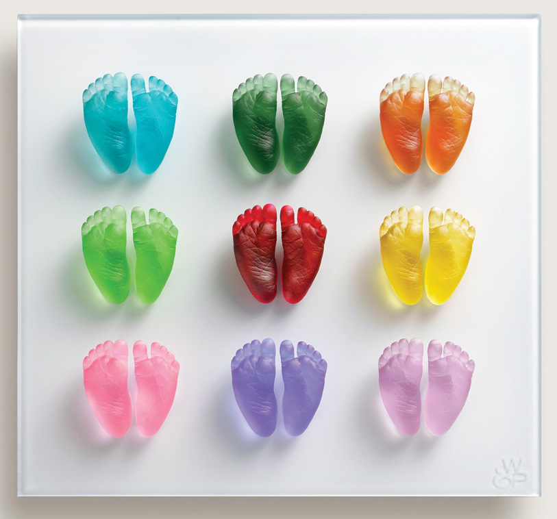 Glass-Coloured-Feet-Bright-Colour-Feet-Wall-Panel