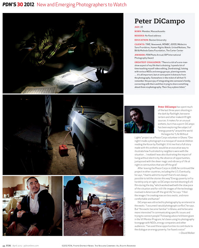 PDN 30 New and Emerging Photographers to Watch (2012)
