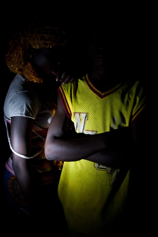 A girl and boy in Voggu, Northern Region, Ghana.