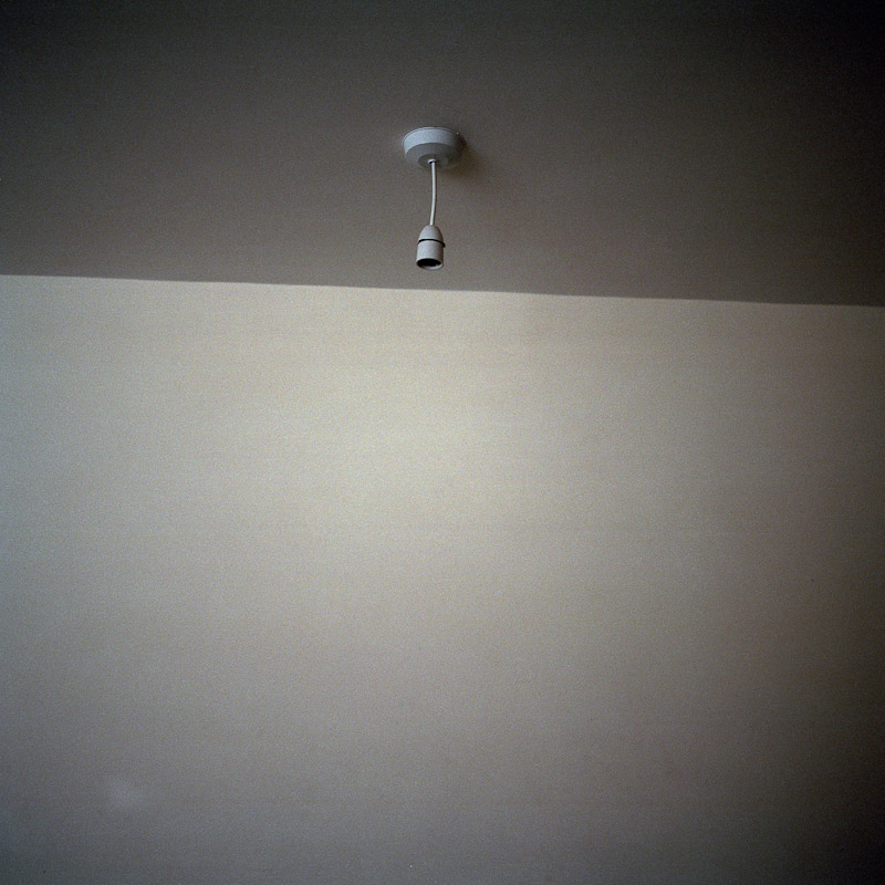 An empty light socket at a home in London, England, where the tenant removed the bulb to save on her energy bill.