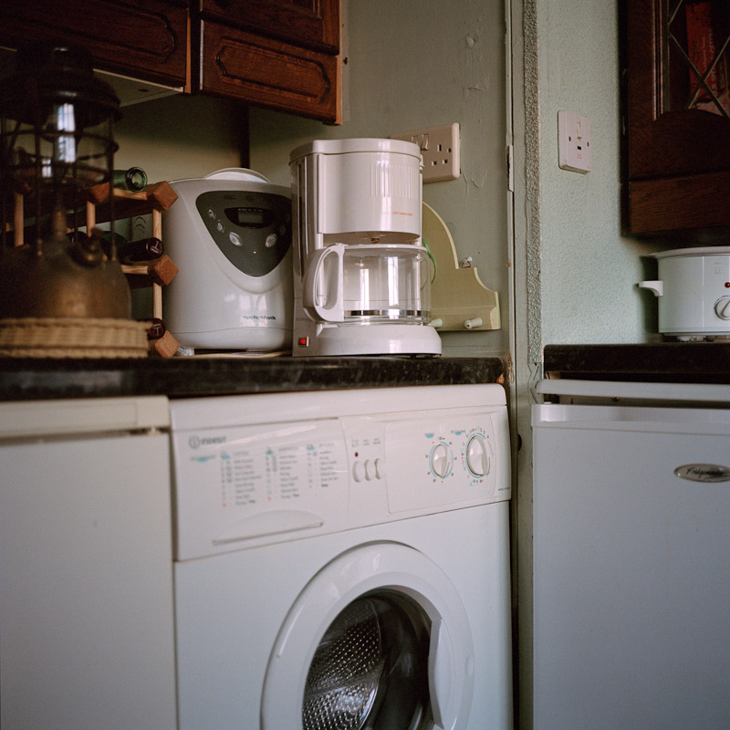 Unused household appliances in Richard's kitchen in Solihull.