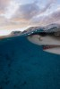 Lemon shark at sunrise in the Bahamas