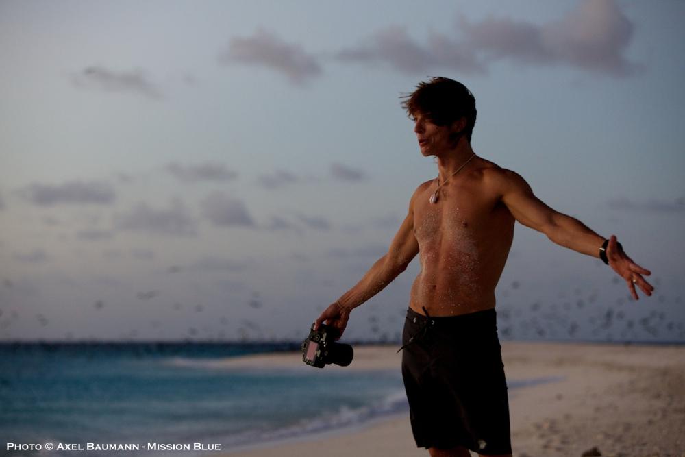 Bryce Groark on a remote Australian island