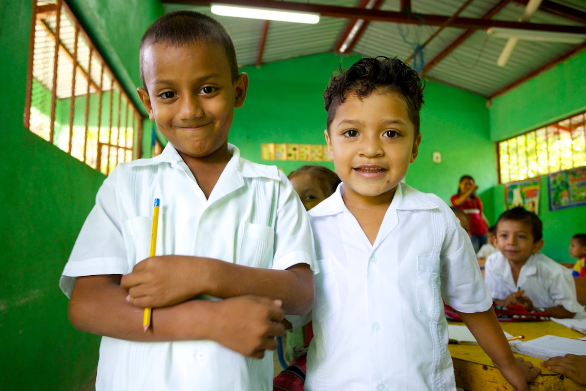 School kids in Honduras