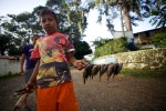 Young fisherman - Lake Yojoa, Honduras