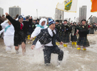 at the Special Olympics Ploar Plunge Sunday, March. 2, 2014 in Chicago, ILL. Photography by Rob Hart